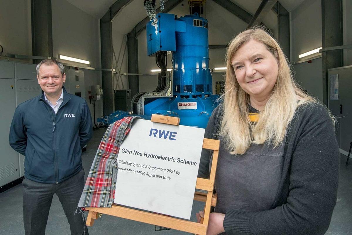 RWE Officially Inaugurates Glen Noe Hydro Scheme