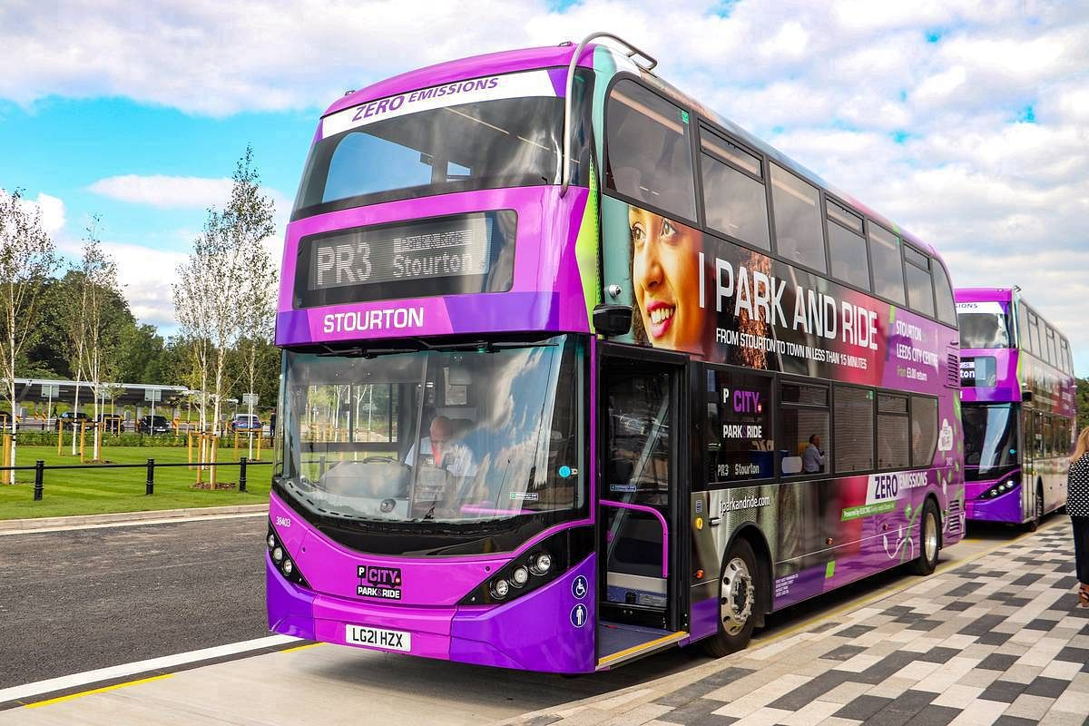 New Leeds Park & Ride Launched with 5 BYD Electric Double Deckers
