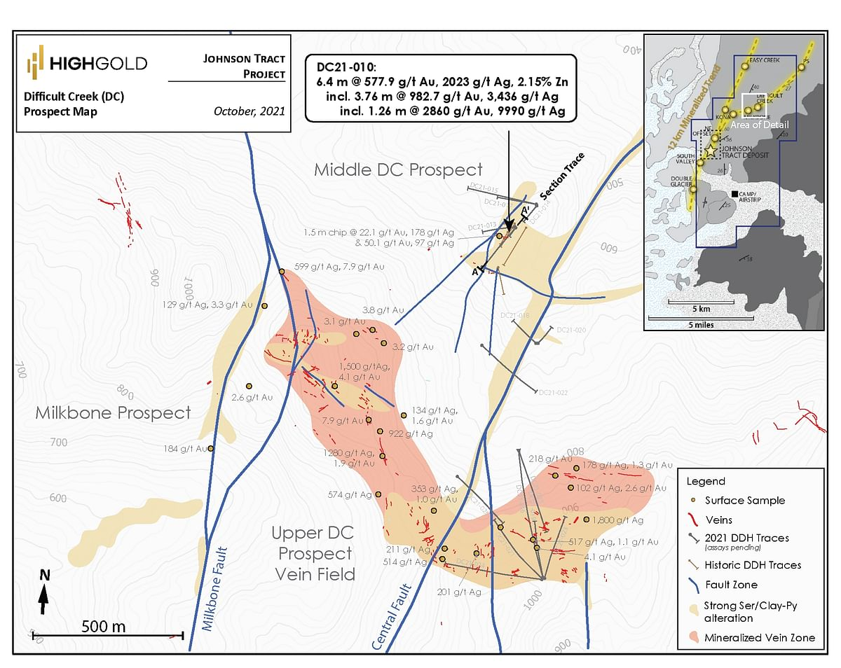 HighGold Mining Update on Difficult Creek in Johnson Tract Project