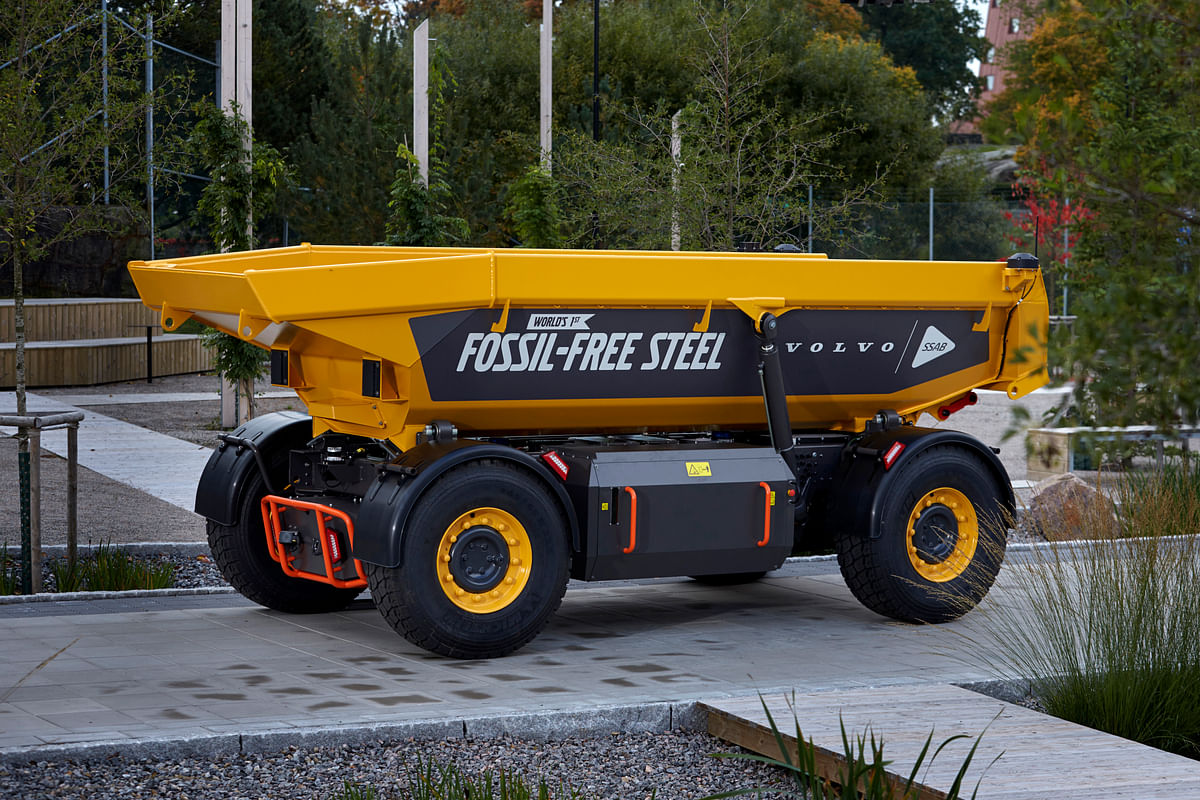 Volvo Unveils Mining Vehicle made from SSAB's Fossil Free Steel