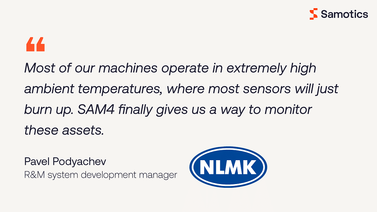 NLMK Europe Expands Asset Monitoring Program with AI from Samotics