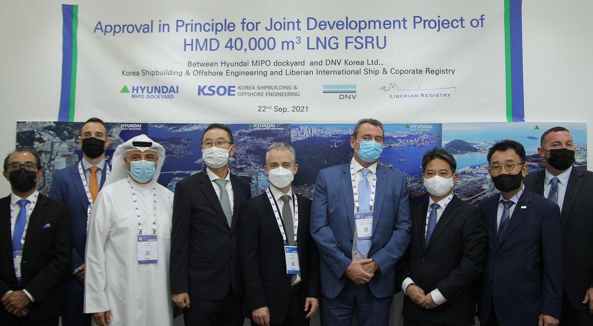 DNV AiP to Hyundai Mipo Dockyard for 40,000 CBM LNG FSRU