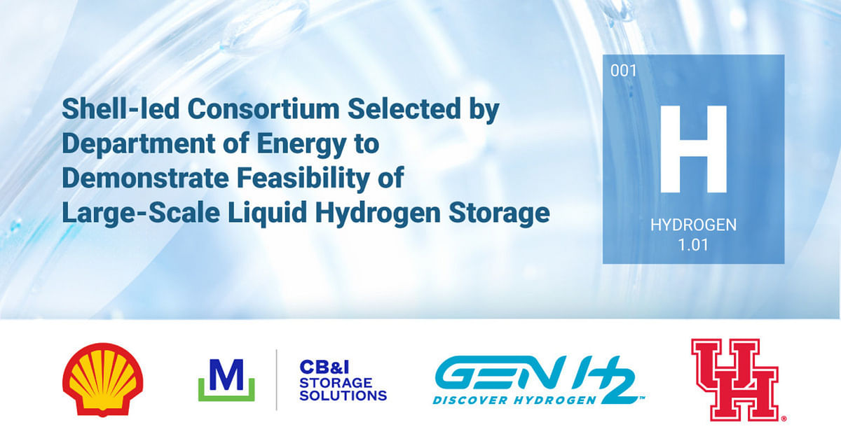 DOE Selects Shell Led Consortium for Liquid Hydrogen Storage