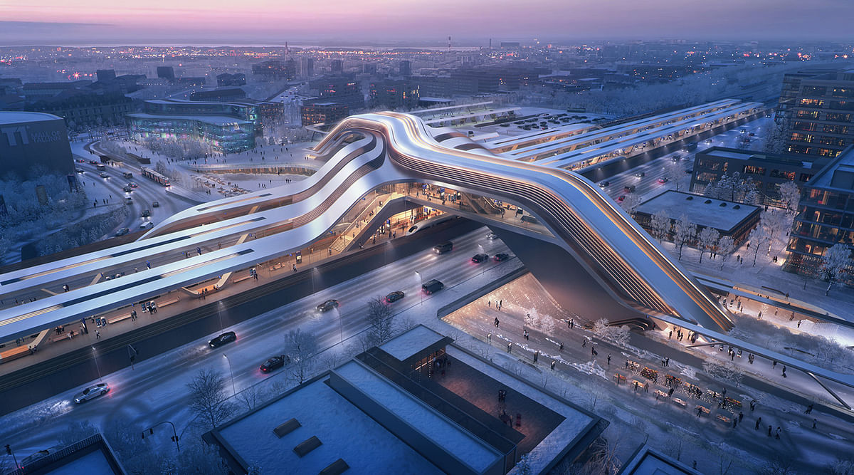 Zaha Hadid Architects to Design Rail Baltica Station in Lithuania