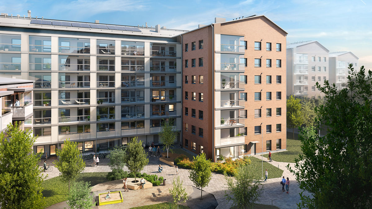 Skanska Building Residential Project in Helsinki in Finland