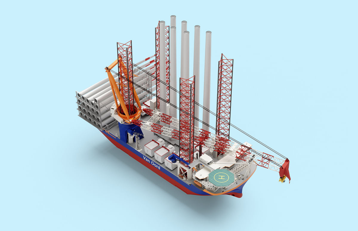 Van Oord Orders Mega Ship to Install Offshore Wind Turbines