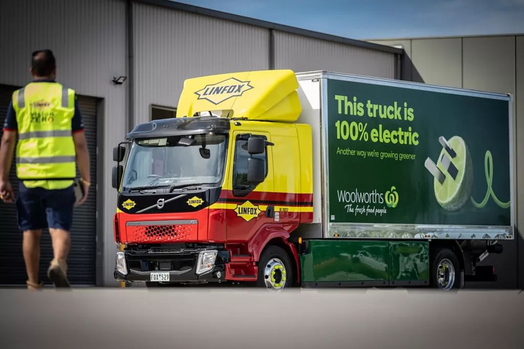 Linfox EV for Fresh Produce for Woolworths Group