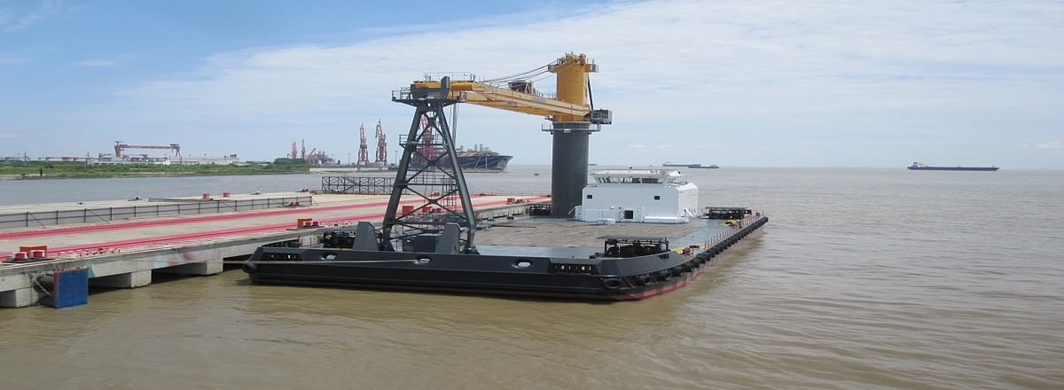 Transhipment Services Australia Orders Damen Crane Barge