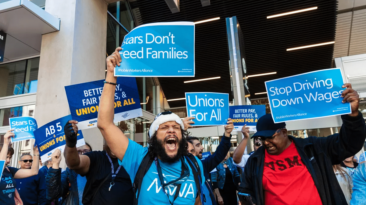 Drivers protest for better wages and a voice in the business