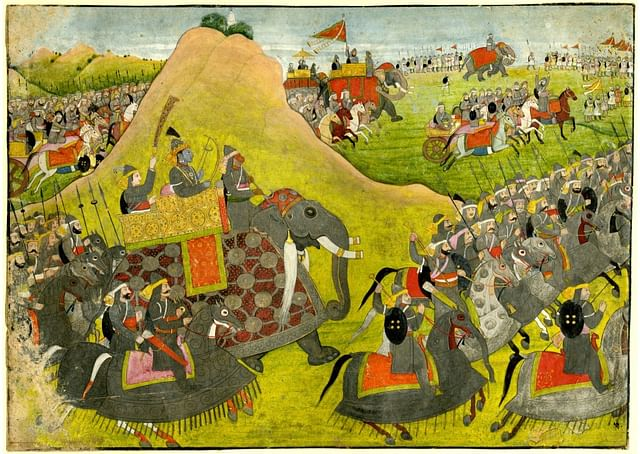 (Rama going into battle, 18th Century Painting)