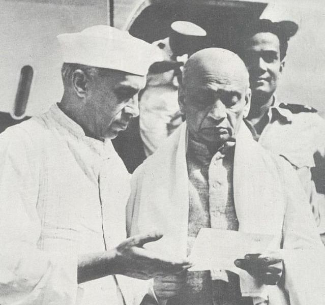 Jawaharlal Nehru with Sardar Vallabhbhai Patel (Wikimedia Commons)