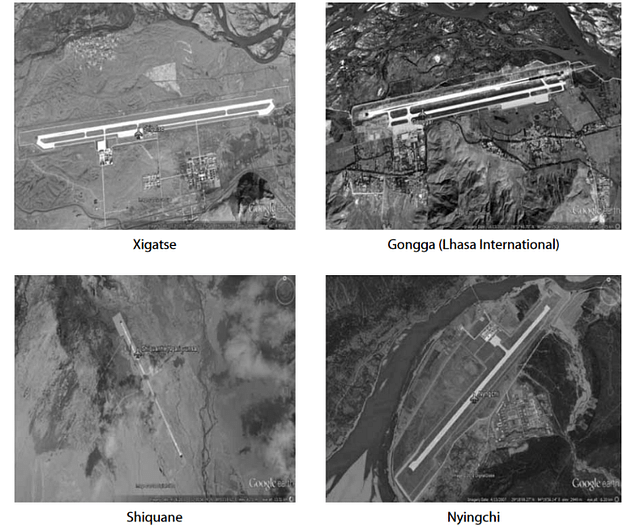 PLAAF airfields in Tibet lacking support infrastructure (ETH Zürich)