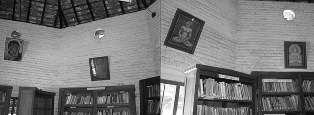 Library in the  Catholic Monastery at Shantivanam