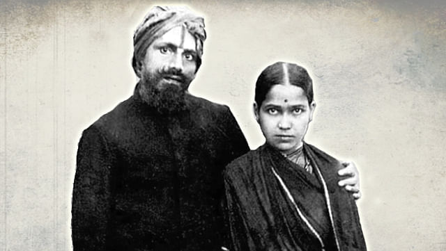 Mahakavi Bharathi and his wife Chinnammaal