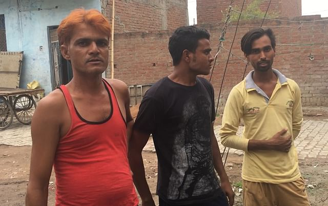 (Left to right)Mohammad Adil, Shahnawaz Khan and another local resident