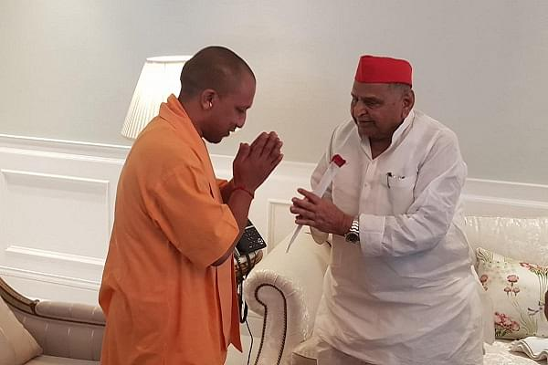 Yogi Adityanath Goes Beyond Politics, Meets Ailing Mulayam Singh Yadav To Inquire About His Health