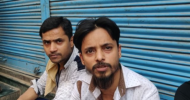 Shakeel Ahmed (right) who was in the crowd at Lal Kuan on Tuesday