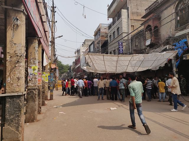 Crowd gathered on Tuesday in Lal Kuan market