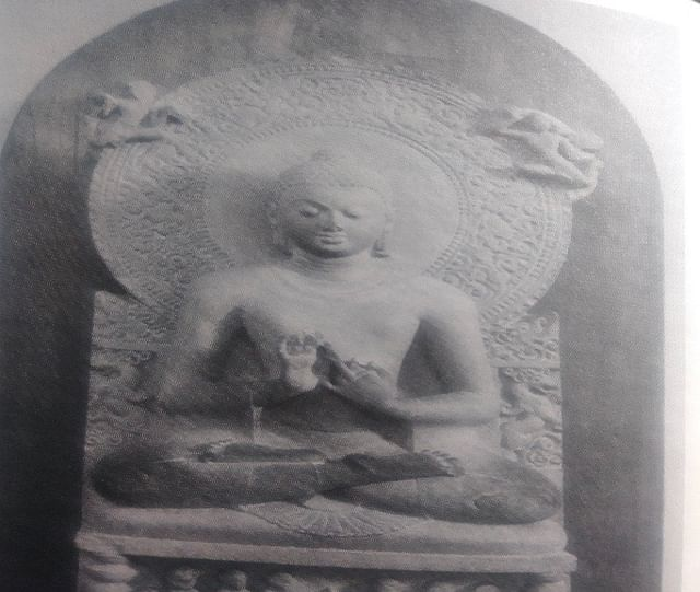 <b>A 4th century CE sculpture depicting Buddha's sermon at Sarnath.</b>