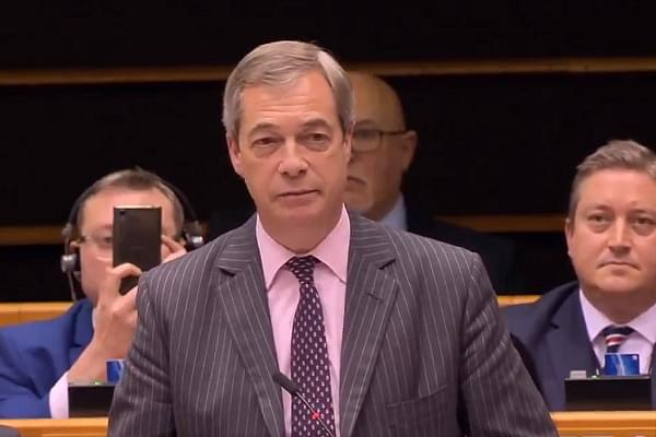 'Leave, Take Your Flags With You': EU Parliament VC Cuts Off Pro-Brexit British MEP Nigel Farage's Speech For Waving UK Flag