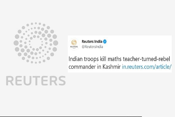 Reuters Draws Flak On Social Media For Calling Hizbul Terrorist Riyaz Naikoo As Math Teacher-Turned 'Rebel' Commander