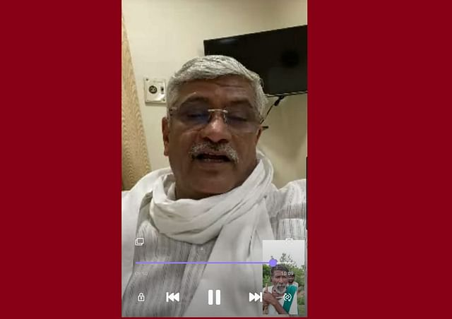 Union Jal Shakti Minister Gajendra Singh Shekhawat in a video call with Kaamegowda