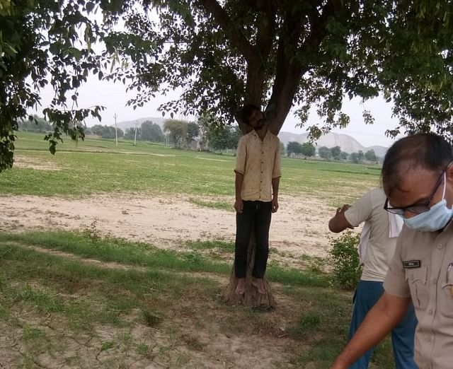 Body of 46-year-old Shravan was found hanging from a tree on 24 June
