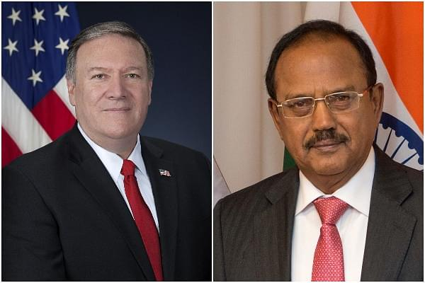 This Photo Of NSA Ajit Doval With US Secretary Of State Mike Pompeo Is Going Viral