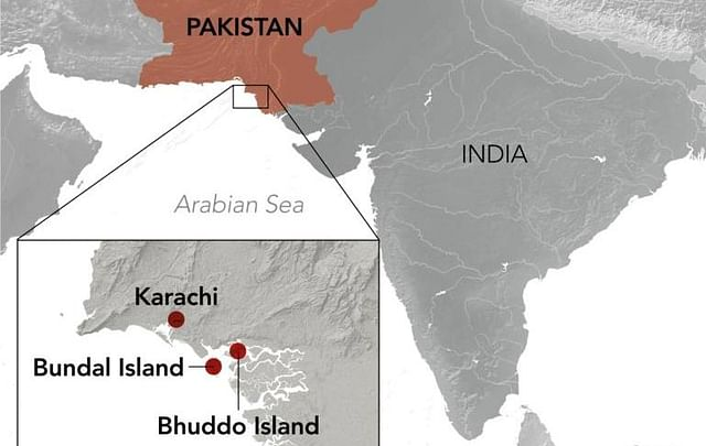 Location of the two islands taken over by Imran Khan government.