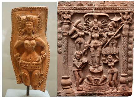 Excavations at Chandraketugarh. (2nd-1st century BCE;  Ethnological Museum, Berlin)