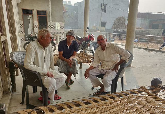 Mahendra, Vijaypal and Balraj (from left to right in the picture)