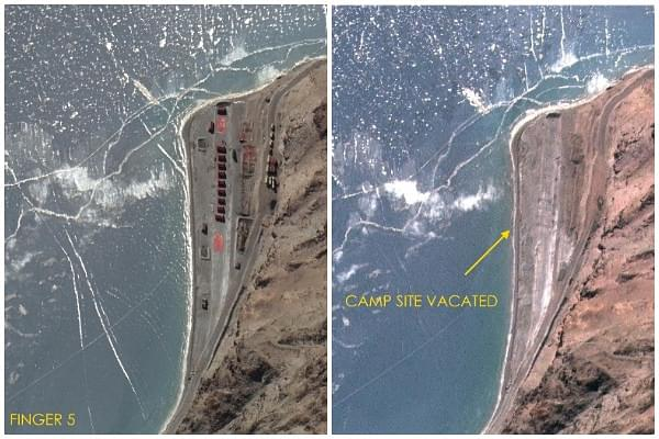 Ladakh: New Satellite Images Show China Pulling Back From Finger Area, Dismantling Its Camps On The North Bank Of Pangong Lake