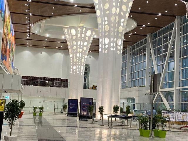 Interiors of Dehradun airport.