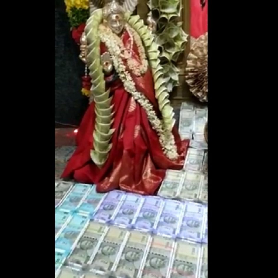 Flowers worth Rs 1.11 crore offered at Telangana temple