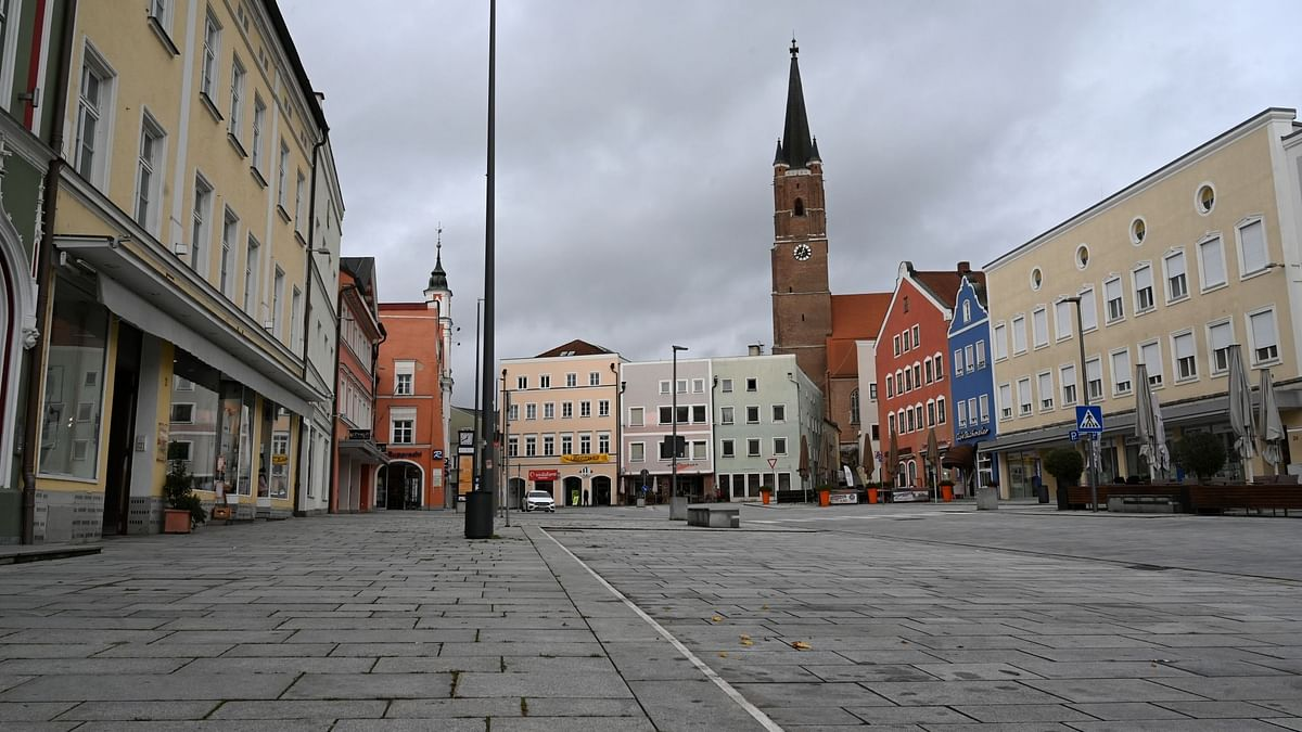 Several stores are closed in the city of Eggenfelden, Germany