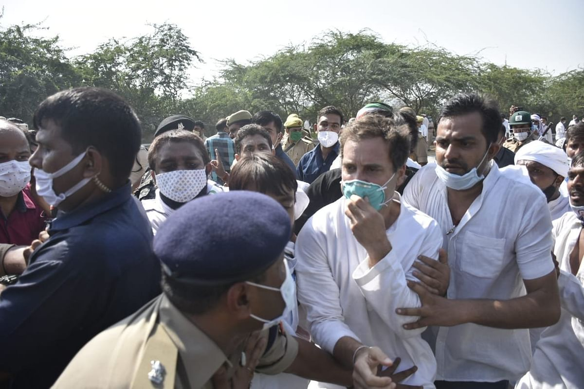 Rahul Gandhi: Police pushed me, lathicharged me and threw me to the ground