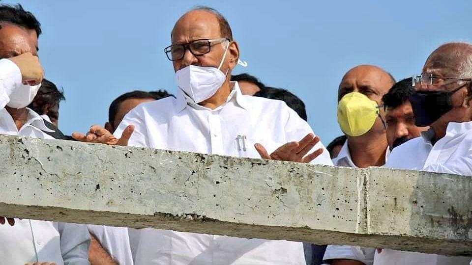 Maharashtra rains: NCP chief Sharad Pawar consoles flood victims