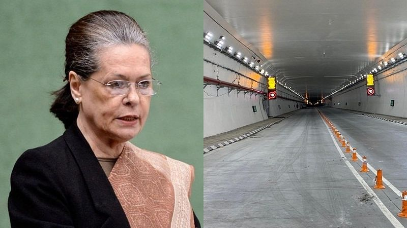 Atal Tunnel: Congress demands search of the missing stone laid by Sonia Gandhi