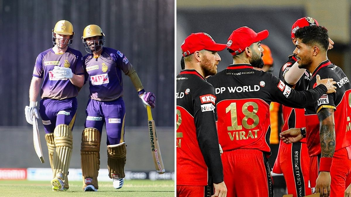 The Kolkata Knight Riders take on the Royal Challengers Bangalore in Match 38 of IPL 2020