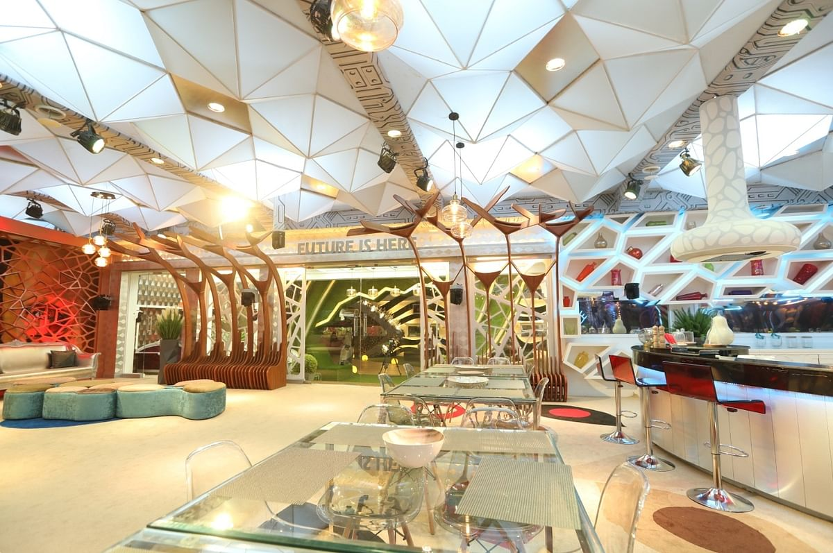 It took Omung and team 45 to 50 days to redesign the house, which has a futuristic theme this season.