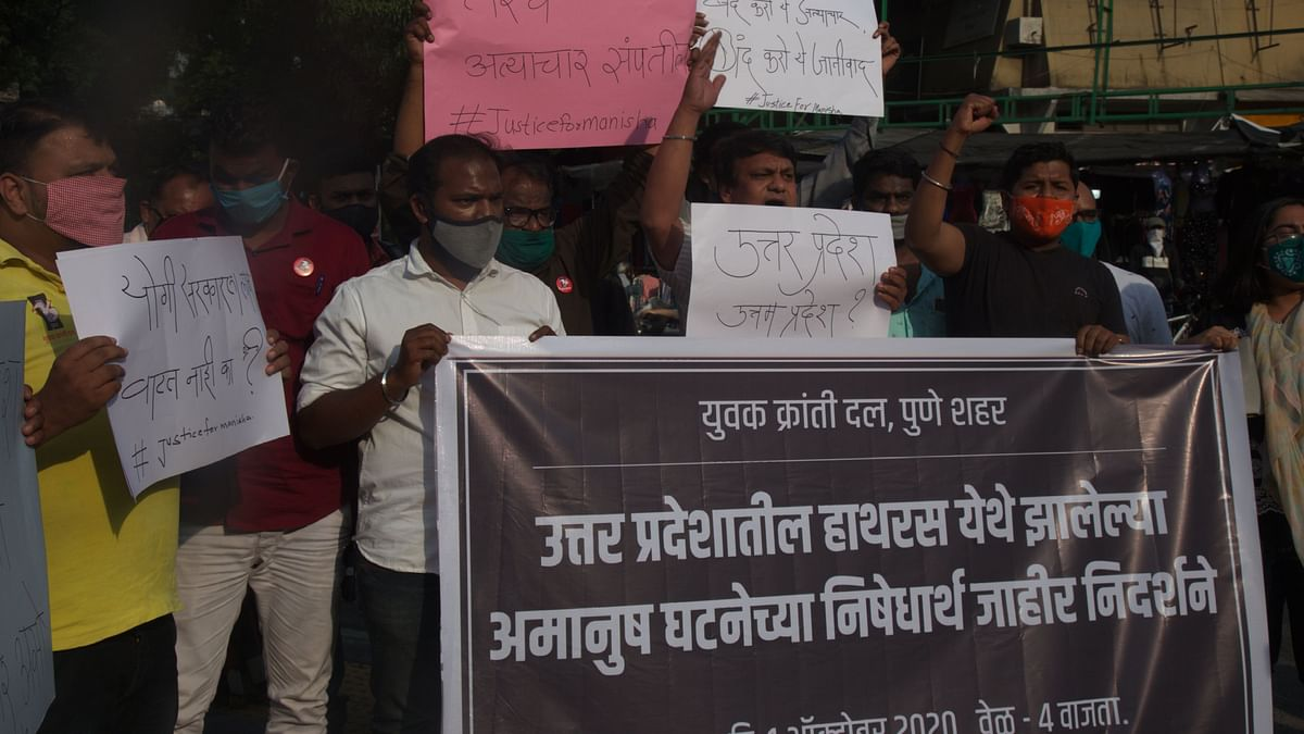 Pune: Protest held at FC Road against Hathras case