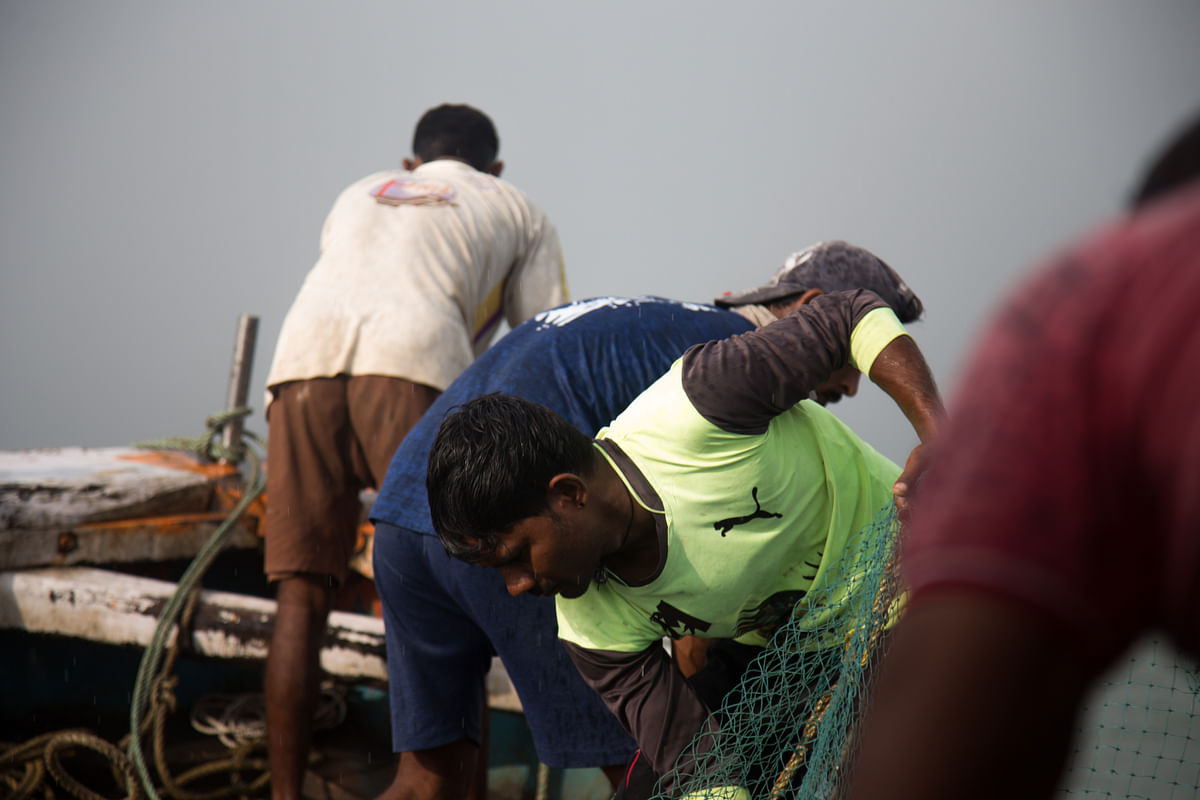 The boats which go for deep-sea fishing will have atleast eight to ten members onboard.