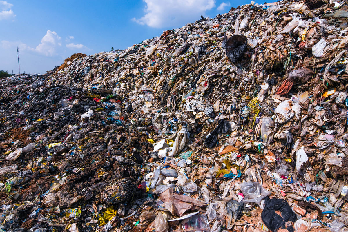 Landfill created due to fast fashion