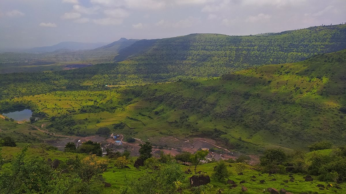 The basalt deposits in Maharashtra are formed due to the basaltic volcanic eruptions