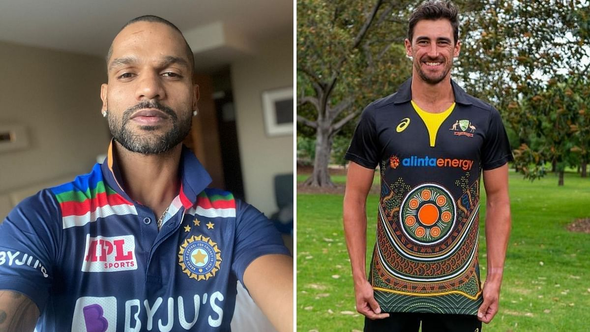 Ind vs Aus: Shikhar Dhawan flaunts iconic jersey for ODIs; hosts to wear indigenous jersey in T20