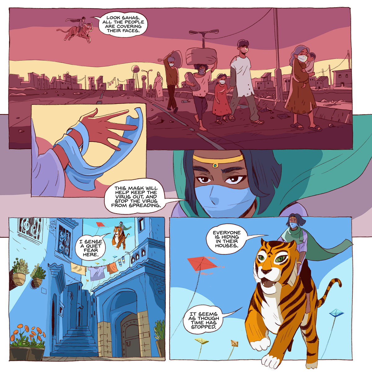 Priya's Mask is set in Jodhpur in the light of the COVID-19 pandemic.
