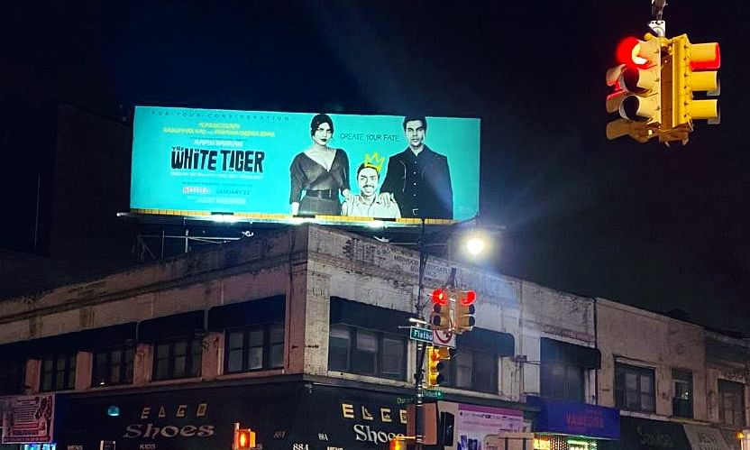 Actor Rajkummar Rao posted this picture on his Twitter account showcasing his film's poster on a billboard in New York