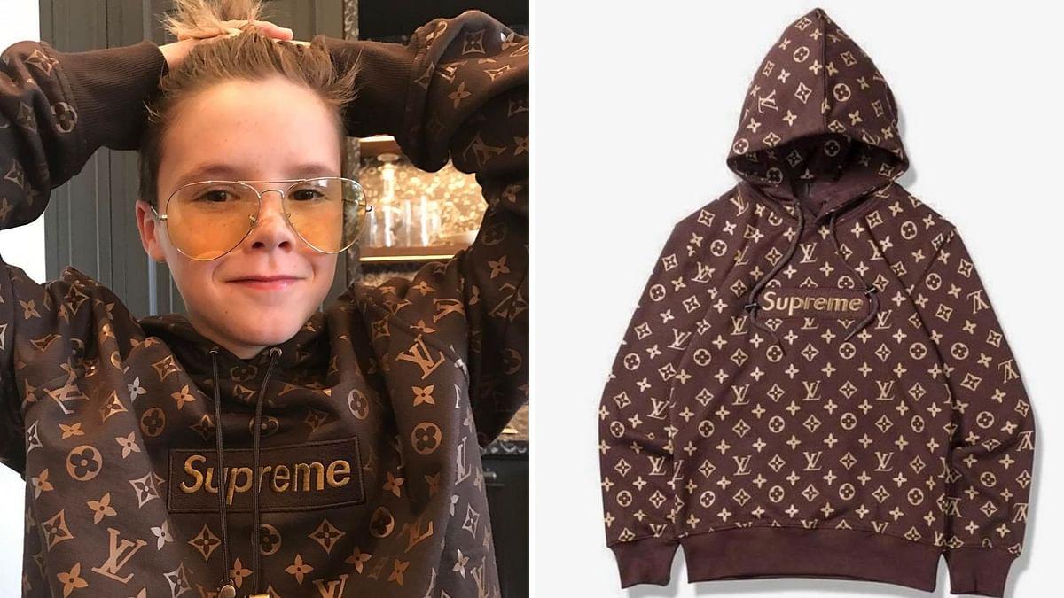 Cruz Beckham along his million dollar hoodie