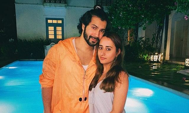 Varun Dhawan shared his picture with Natasha on Instagram