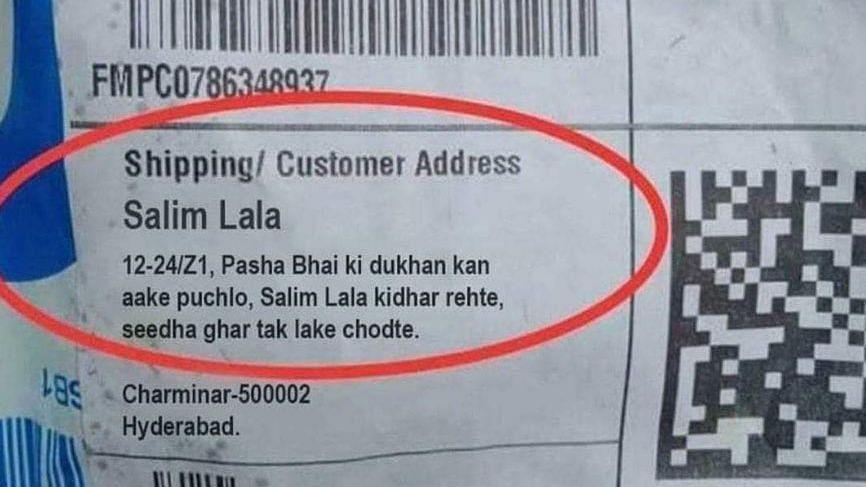 Hyderabad: Salim Lala's Flipkart delivery address going viral is fake!
